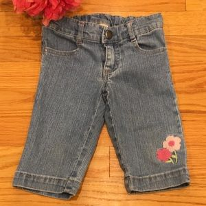 Gymboree 2T Floral Embroidered Jeans